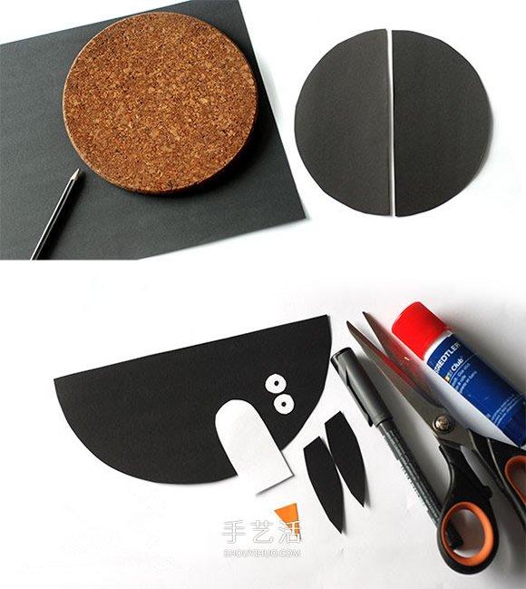 卡纸手工制作立体企鹅的图解教程