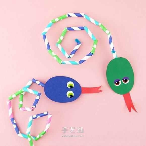 幼儿园手工制作吸管小蛇的简单教程