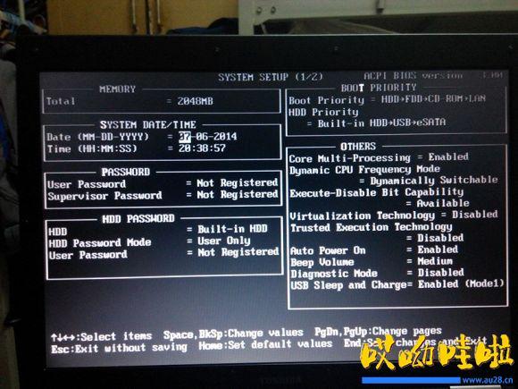 东芝K30进BIOS设置